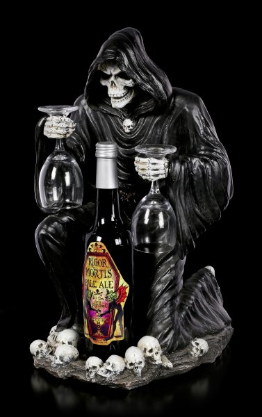 Grim Reaper Bottle & Glass Holder