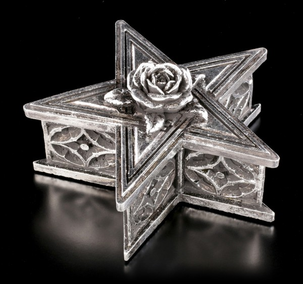 Pentagram Box with Rose