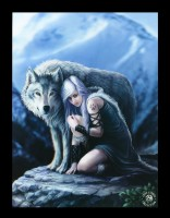 3D Picture with Wolf - Protector