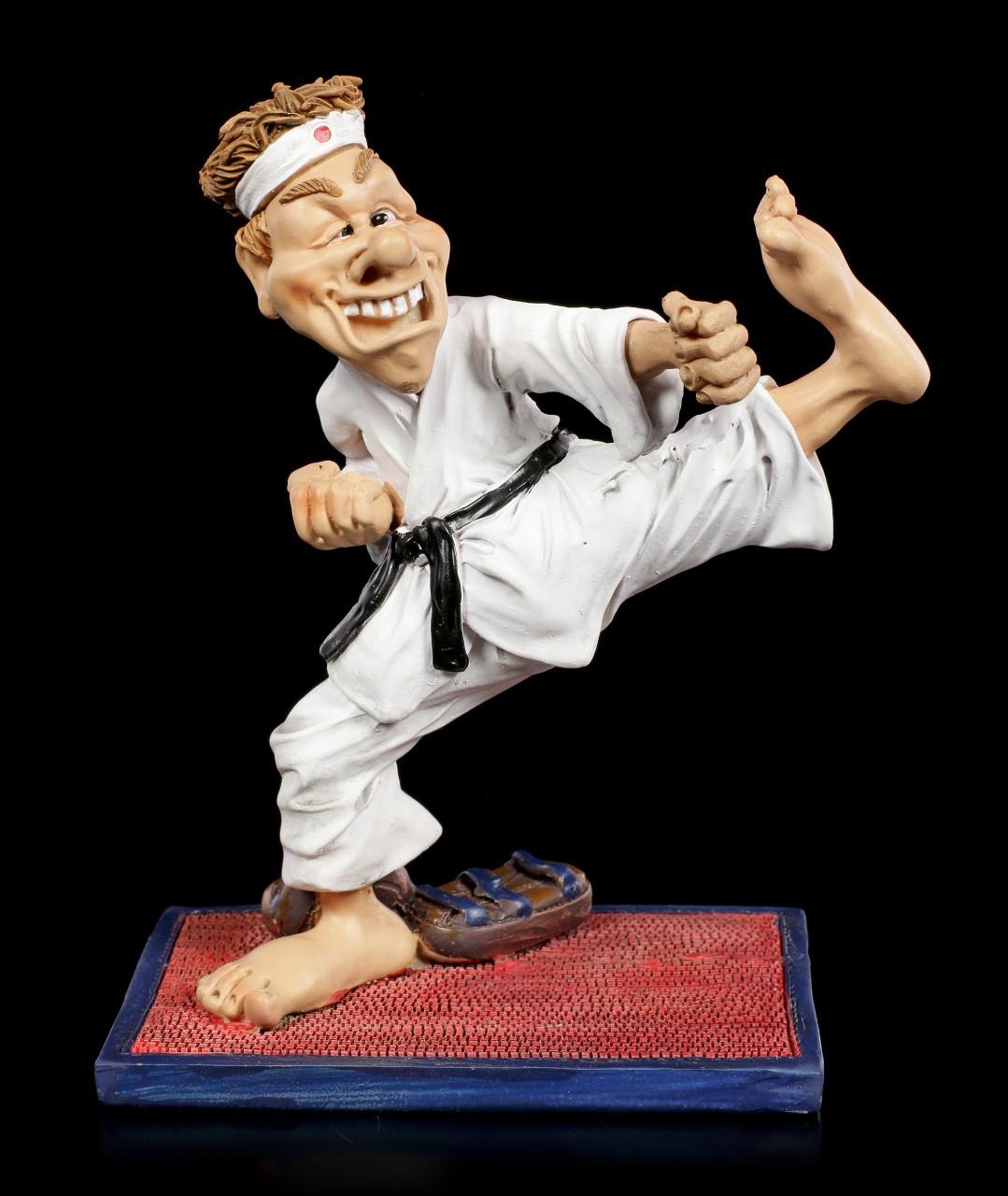 Funny Sports Figur - Karate Kämpfer mit schwarzen Gürtel