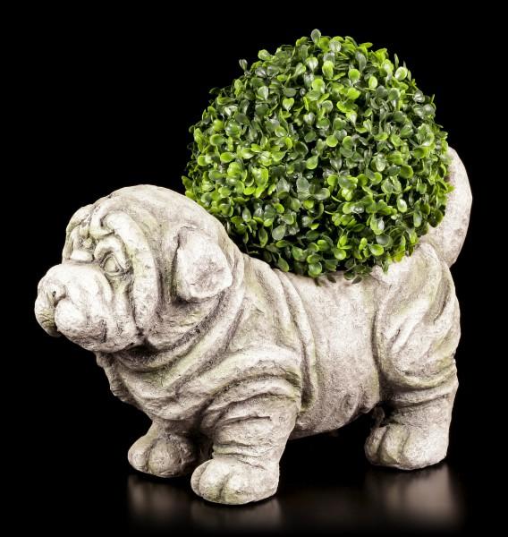 Gartenfigur - Hund als Pflanzentopf
