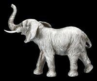Elefanten Figur - Rüssel oben Antik Silber