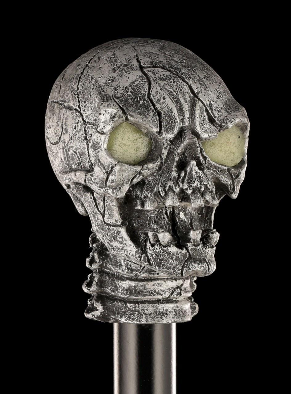 Cane Skull - Glow in the Dark