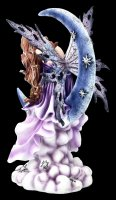 Fairy Figurine Sleeping on Moon - Fairy Land