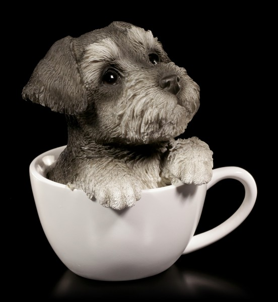 Dog Figurine - Schnauzer Teacup Pup