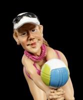 Funny Sports Figur - Beach Volleyballerin
