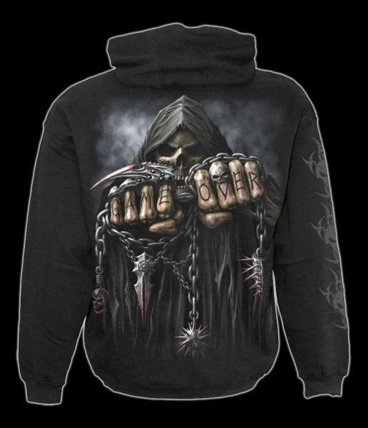 Kapuzenjacke - Skelett Reaper - Game Over