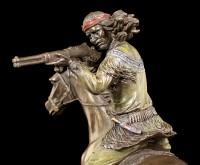 Indianer Figur - Schießender Apache auf Pferd