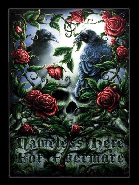 Großes Glas Bild mit Raben - Sorrow For The Lost