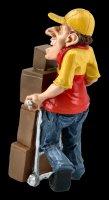 Funny Jobs Figurine - Parcel Deliverer with Parcels