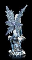 Blue Fairy Figurine - Plava sitting on Rock
