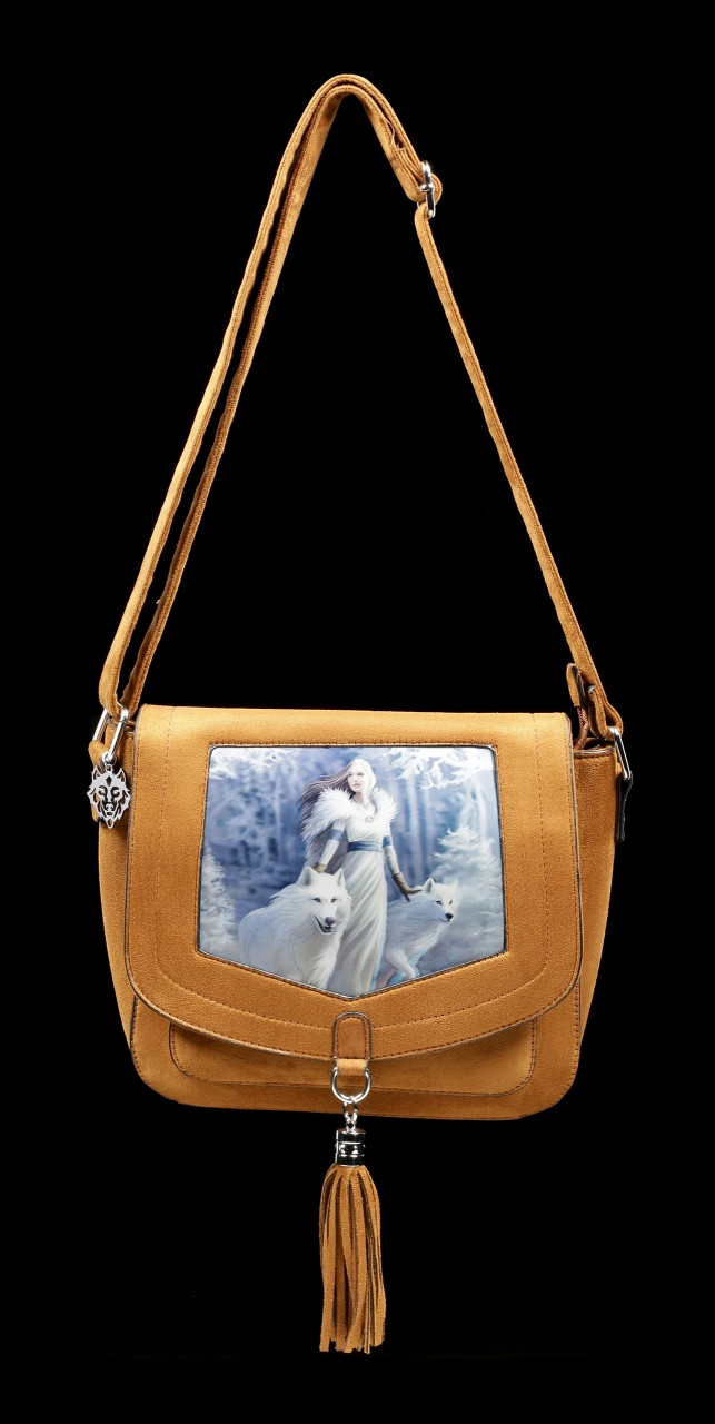 3D Side Bag with Wolves - Winter Guardians