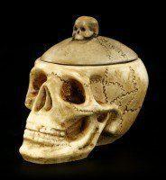 Schatulle - Totenkopf mit Schädeldecke - klein