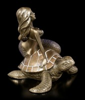Mermaid Figurine on Turtle