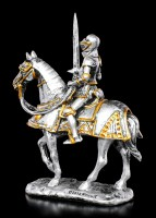 Small Knight Figurine with raised Sword on Horse