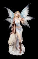 Fairy Figurine - Milaileé with Polar Bear