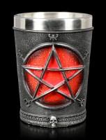 Schnapsbecher - Baphomet mit Pentagramm