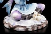 Winter Fairy Figurine - Ilais with Snow Bunny