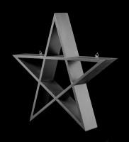Wandregal - Schwarzes Pentagramm