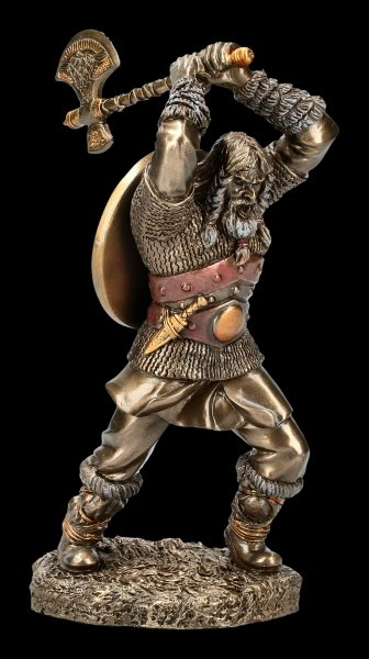 Viking Figurine in Battle with Axe