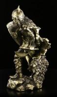 Wikinger Figur mit Schild und Axt