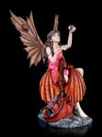 Fairy Figurine - Salima with red Dragon