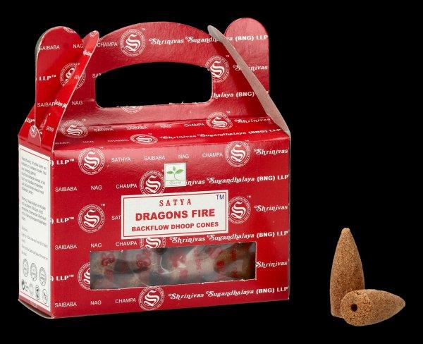 Backflow Incense Cones - Dragon Fire by Satya