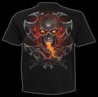 T-Shirt - Feuer Drache & Totenkopf - Fire Dragon