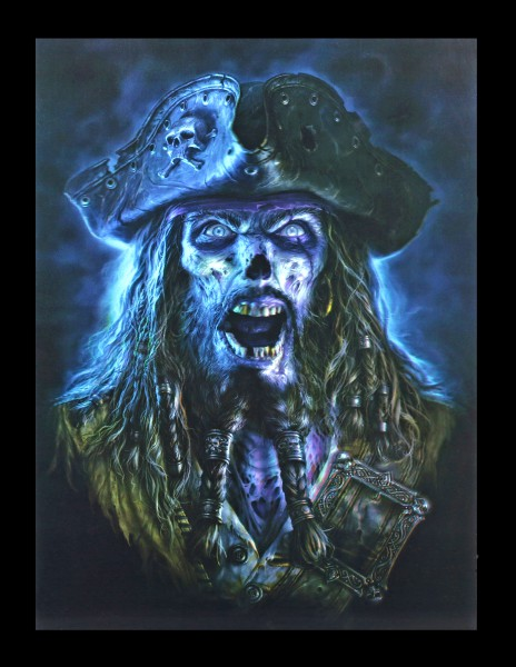 3D Bild mit Pirat - Captain Grimbeard