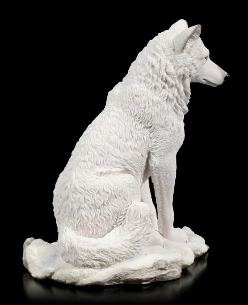 White Wolf Figurine - sitting