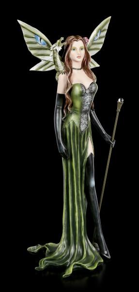 Elfen Figur - Lesandra mit Zepter und Drache