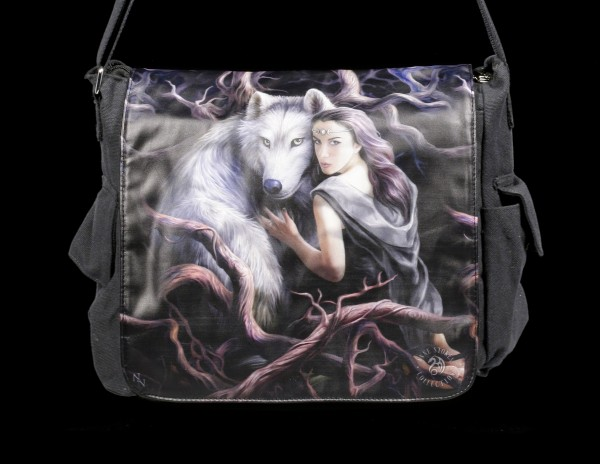 Messenger Bag with Wolf - Soul Bond