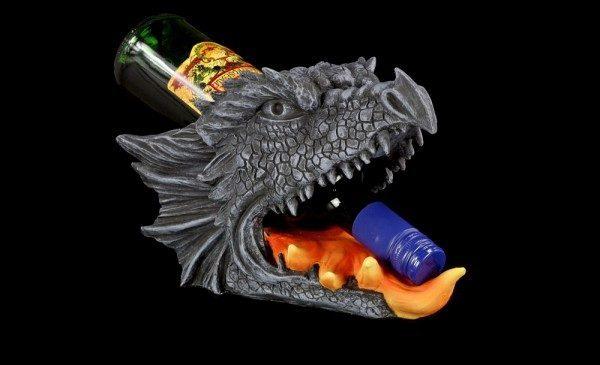 Flaschenhalter - Drachenkopf