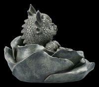 Garden Figurine - Dragon Babies in a Rose