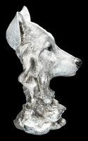 Wolfskopf Büste - Antik Silber