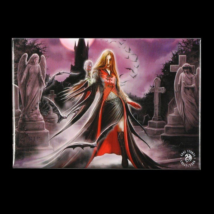 Blood Moon Vampire Magnet by Anne Stokes