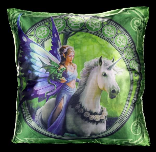 Großes Kissen mit Einhorn - Realm of Enchantment