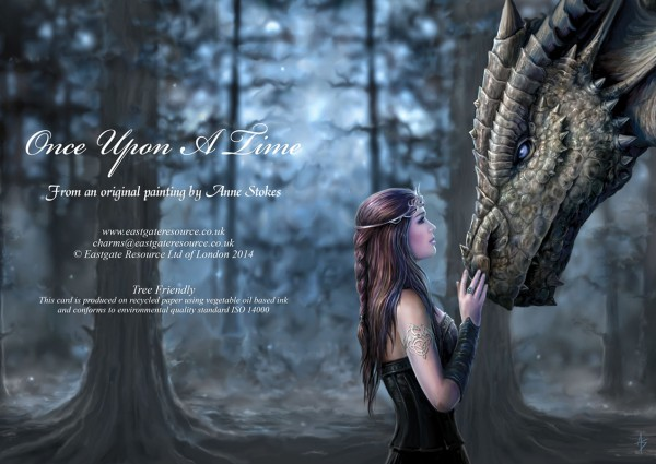 Fantasy Greeting Card Dragon - Once Upon A Time