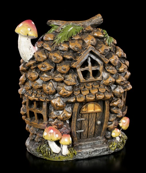 Fairy House with LED - Pine Cone
