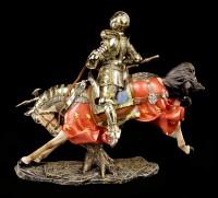 Ritter Figur mit Pferd und Lanze