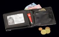 Herren Geldbörse - Schwarze Witwe