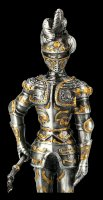 German Pewter Knight Figurine with Mace