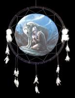 Großer Traumfänger mit Wolf - Protector