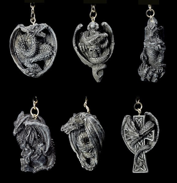 Dragon Key Ring Set of 6