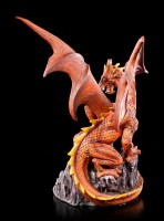 Dragon Figurine - Volcanic Victory with LED in Camp Fire