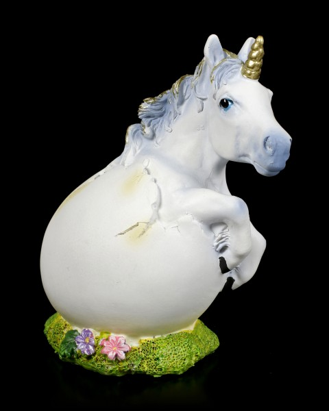 Unicorn Figurine frees itself from the Egg