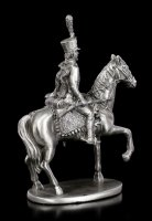 Pewter Soldier Figurine on Horse with Rifle