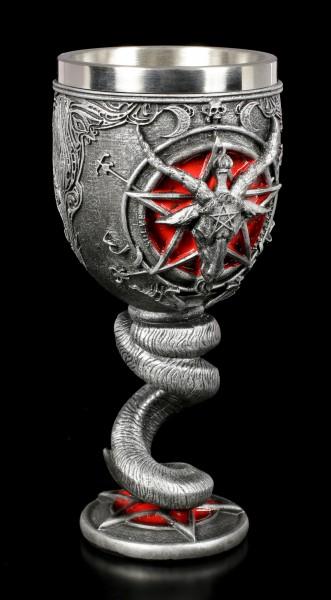Kelch - Baphomet mit Pentagramm