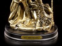 Kleine Erzengel Michael Figur mit Base