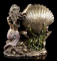 Jugendstil Meerjungfrauen Figur mit Muschel